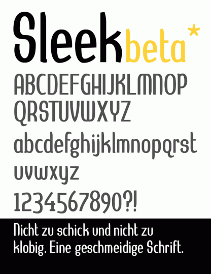 Hayungs Sleek Font beta