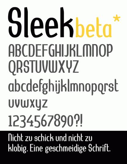 Hayungs Sleek Font beta